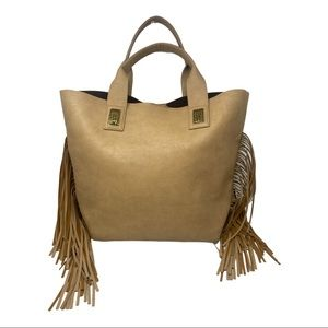 Urban Originals fringe vegan leather tote bag